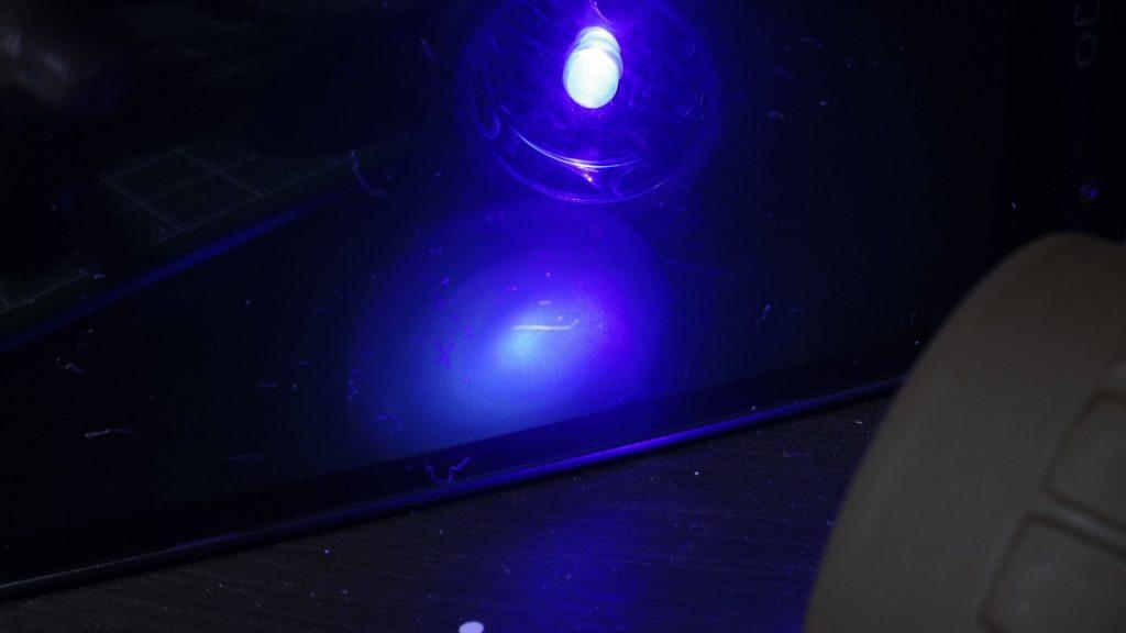 UVライト発光テスト