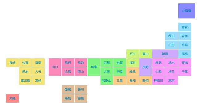 htmlで日本地図表示